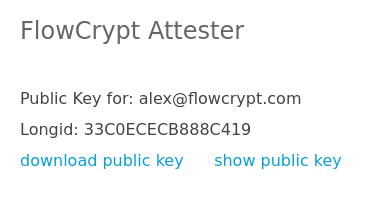 browser attester key search