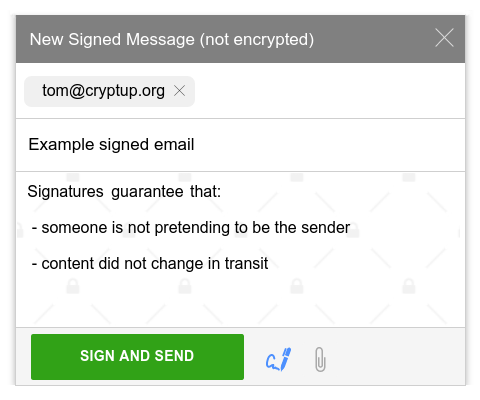 Signing emails with PGP on Gmail