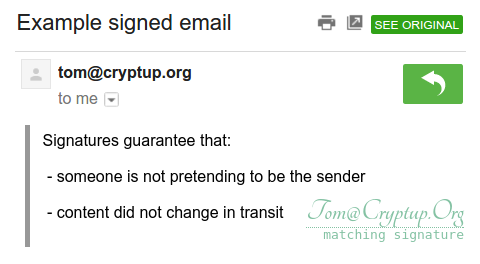 Verifying PGP signed emails on Gmail
